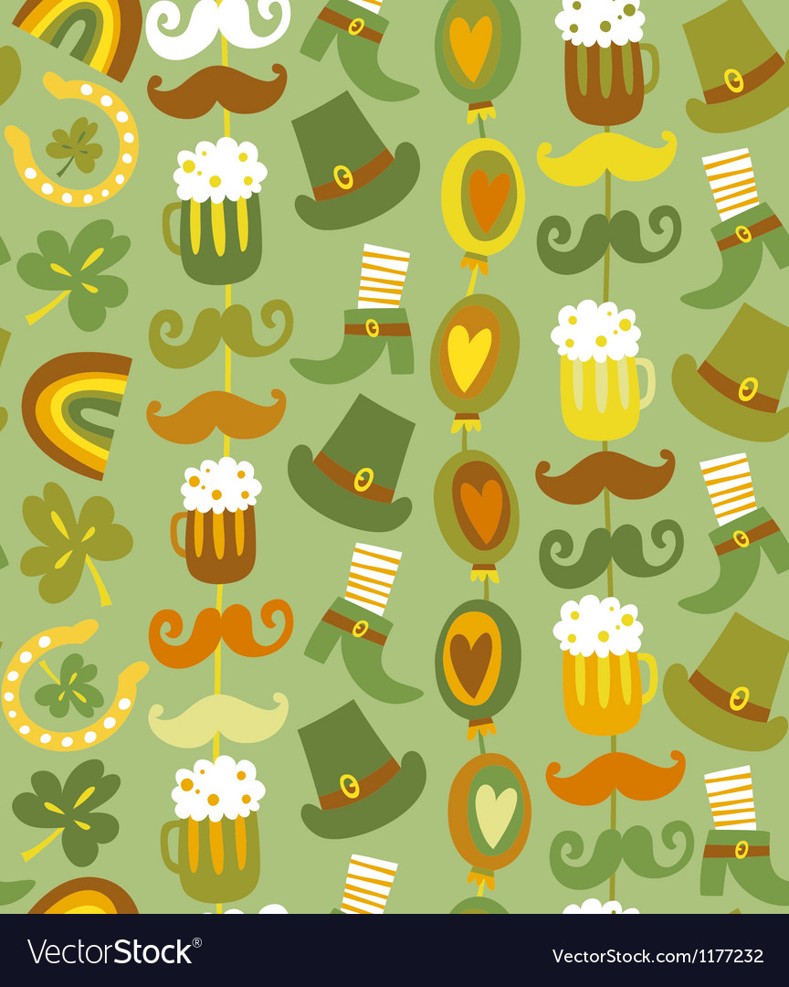 Colorful seamless stpatricks day pattern vector