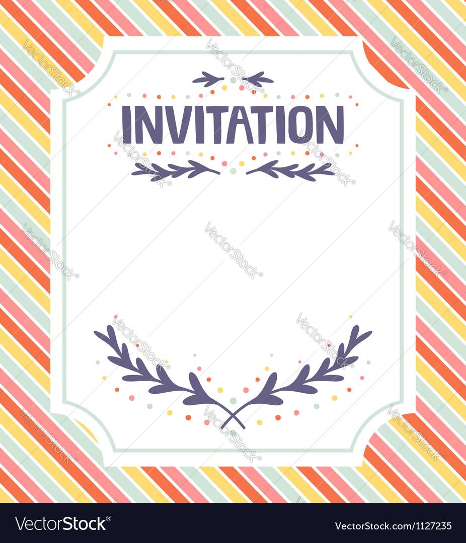 Invitation template vector by stolenpencil - Image #1127235 ...
