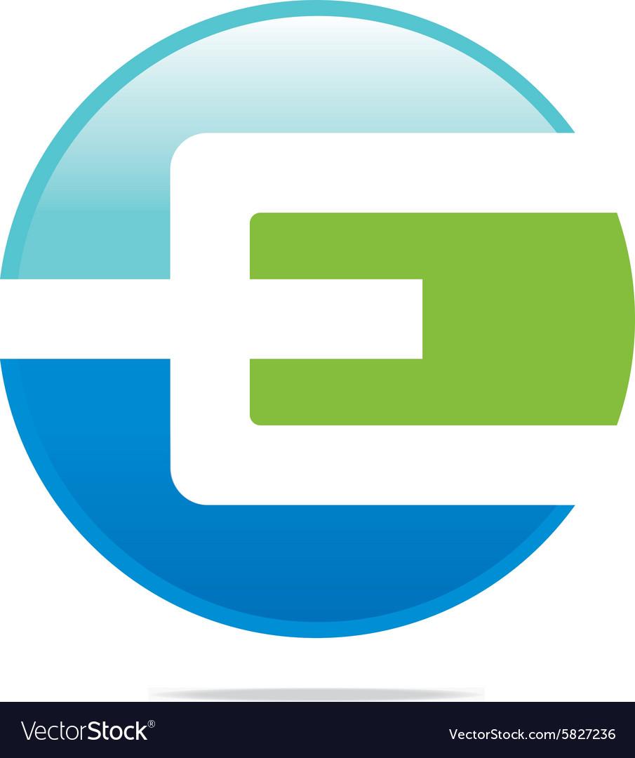 Logo abstract ic...E Logo With Circle