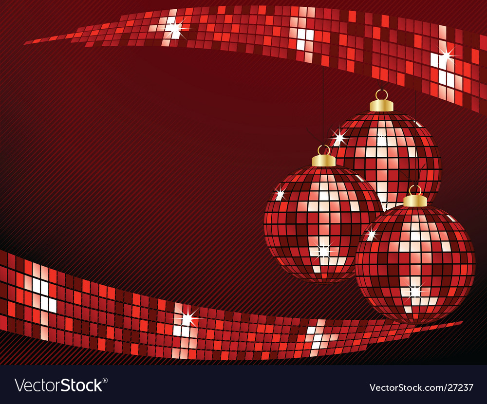 Sparkly bauble background vector