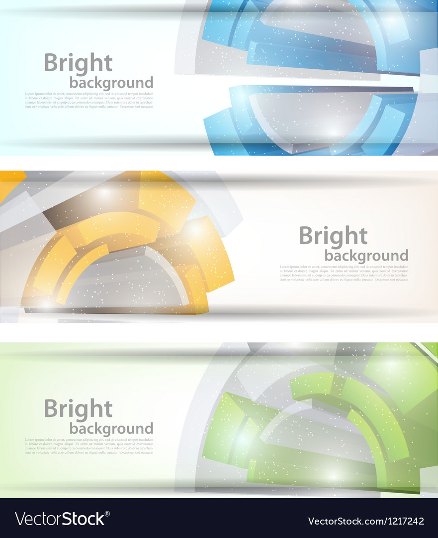 Set of tech banners vector