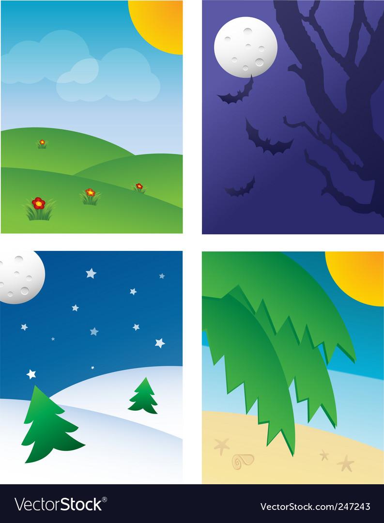 Seasonal backgrounds