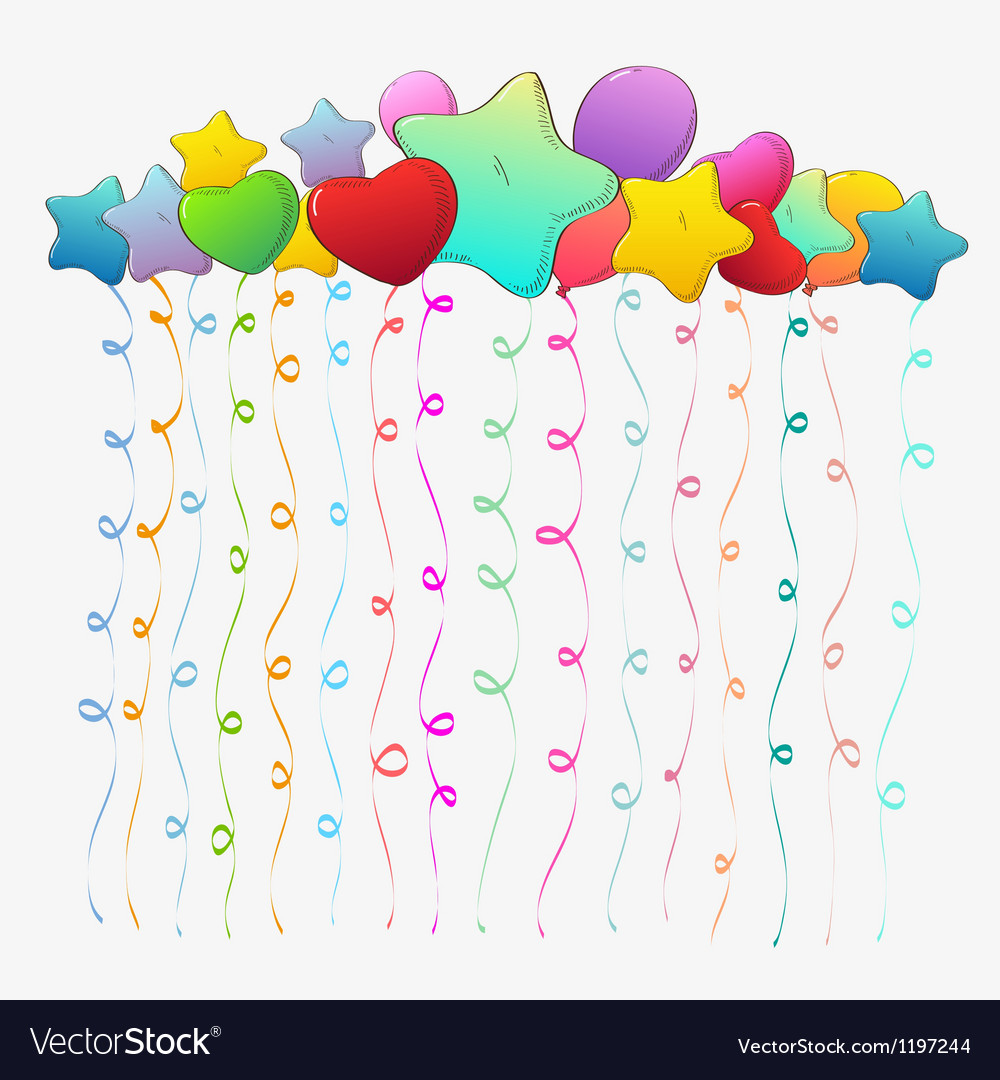 Holiday backgrounds baloons vector