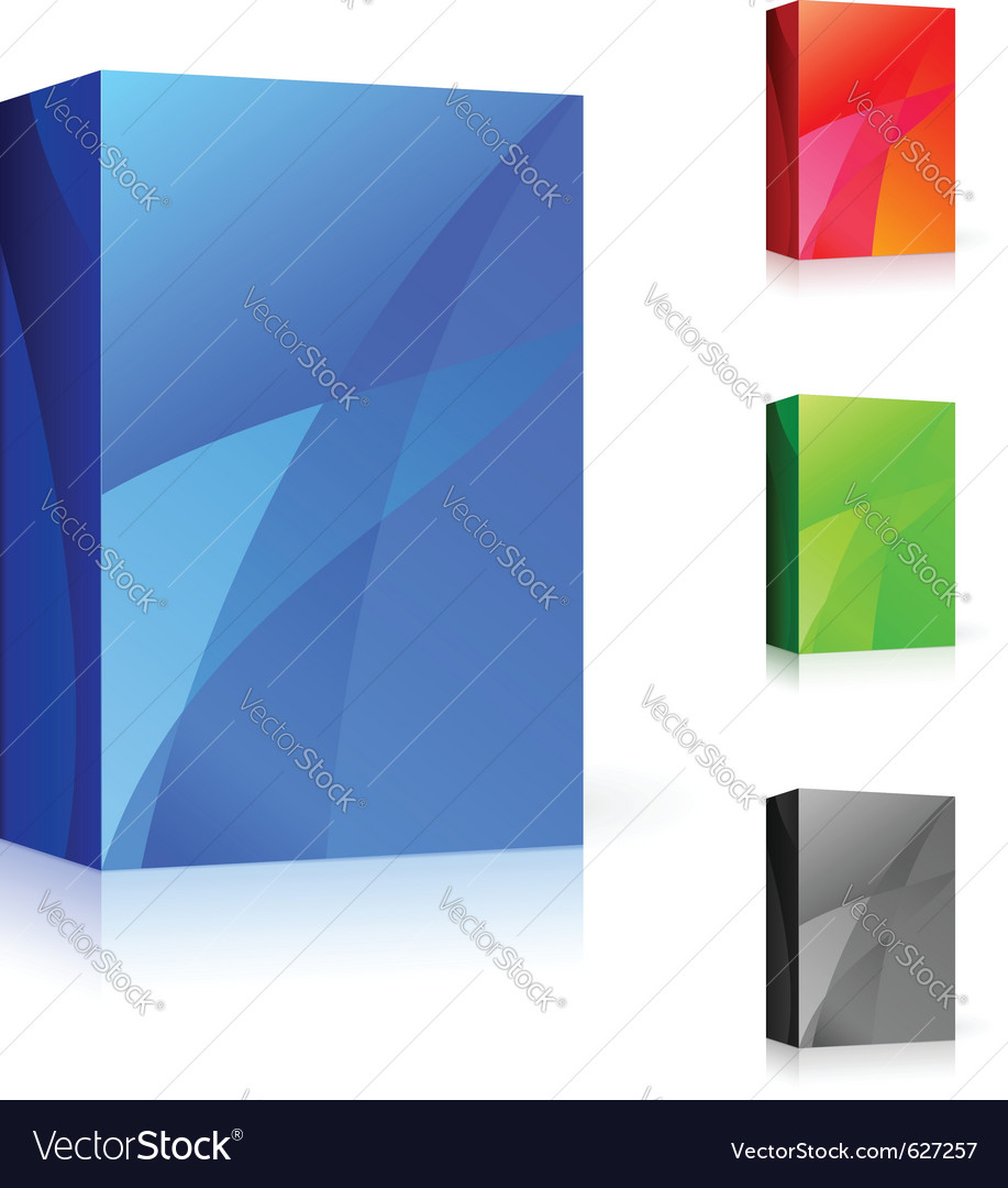 Cd box of different colors vector