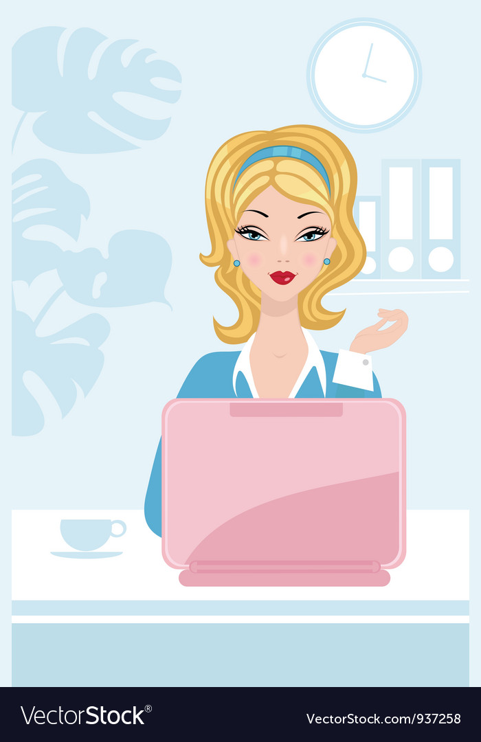 Office beauty vector
