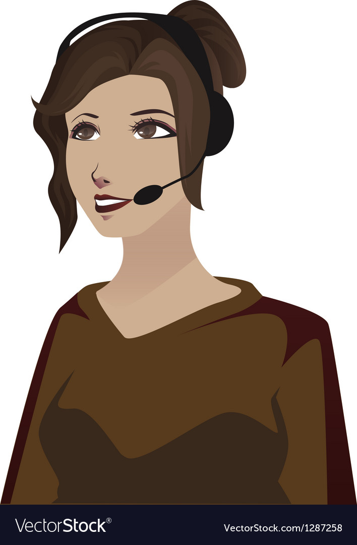 Telephone woman vector