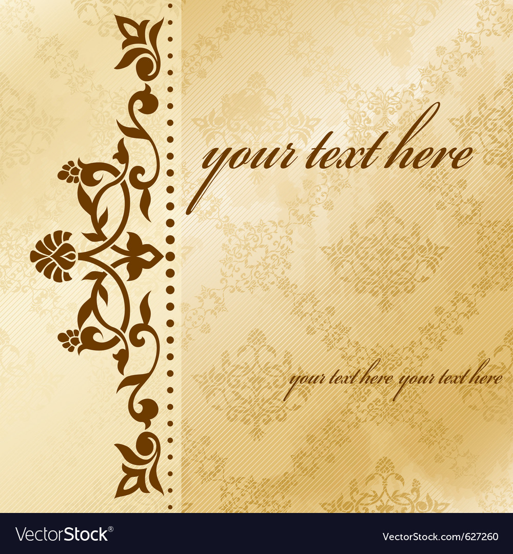 Floral arabesque background vector