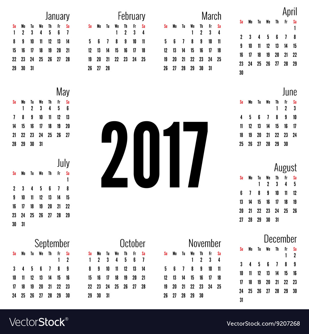 Weekly Calendar Vector : Monthly calendar for vector by sumkinn image