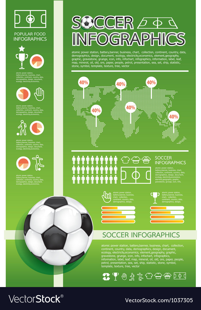 Infographic Ideas infographic soccer : Soccer infographic vector by pongsuwan - Image #1037305 - VectorStock