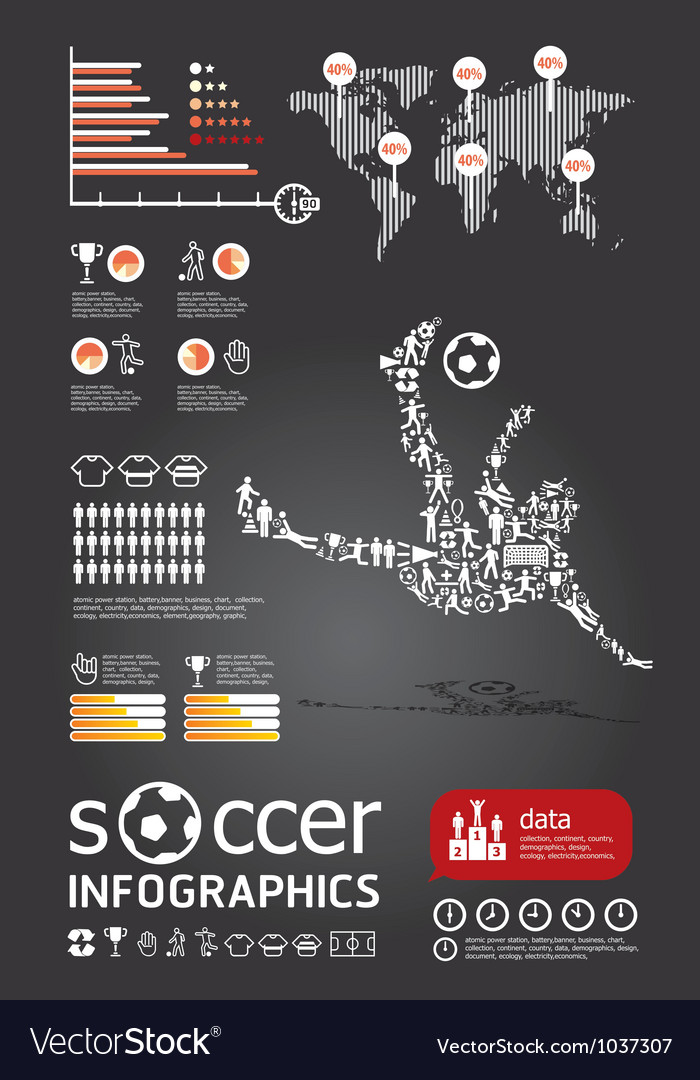 Soccerr info graphic4 vector