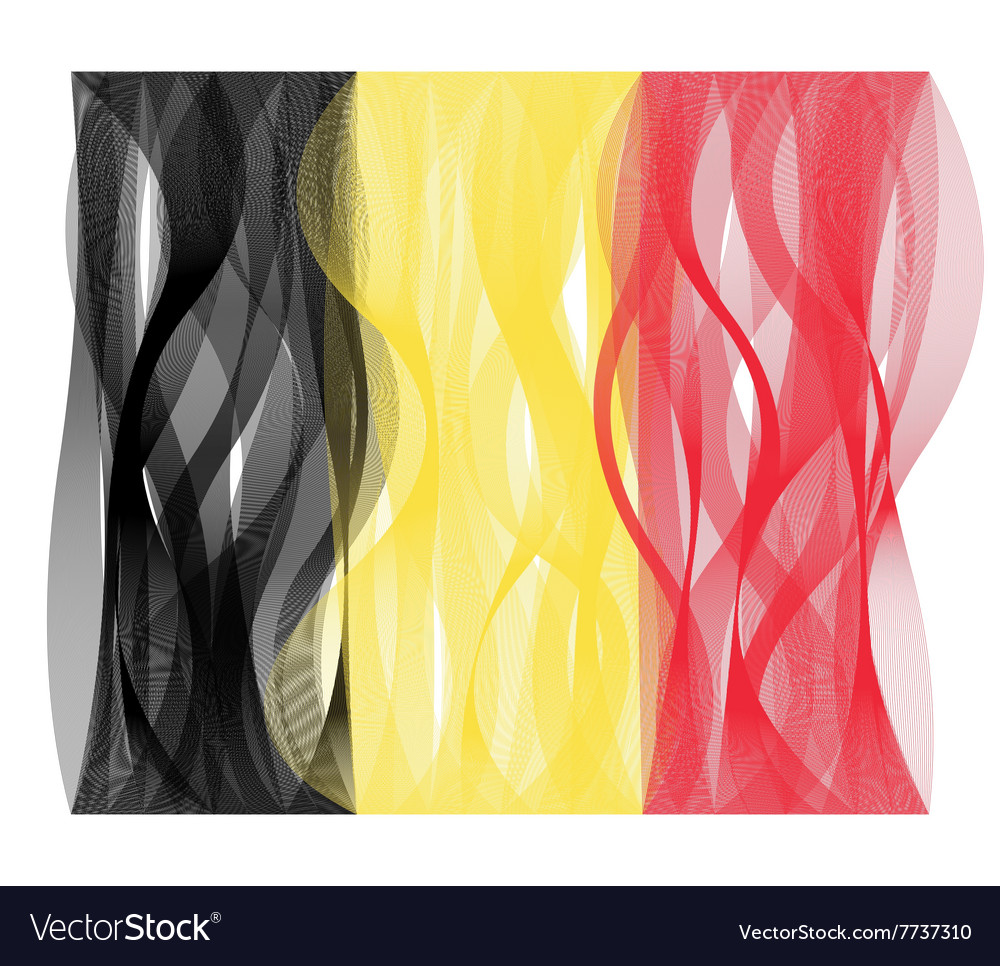 Wave line flag of belgium