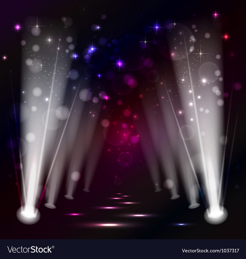 Dark christmas stage spotlight vector