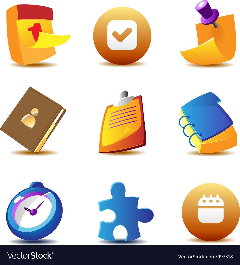 Business planning icons vector