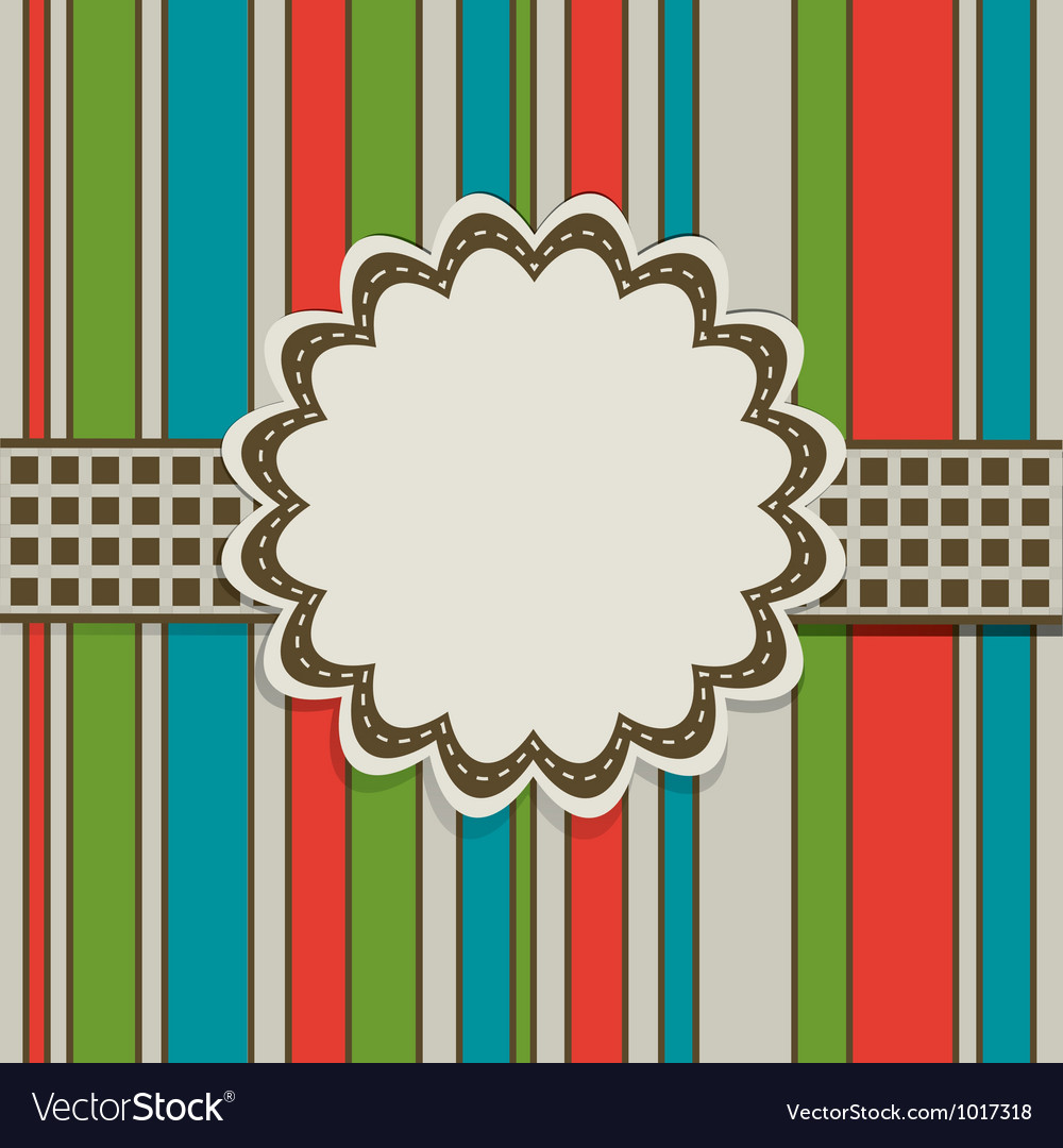 Retro greeting card template vector