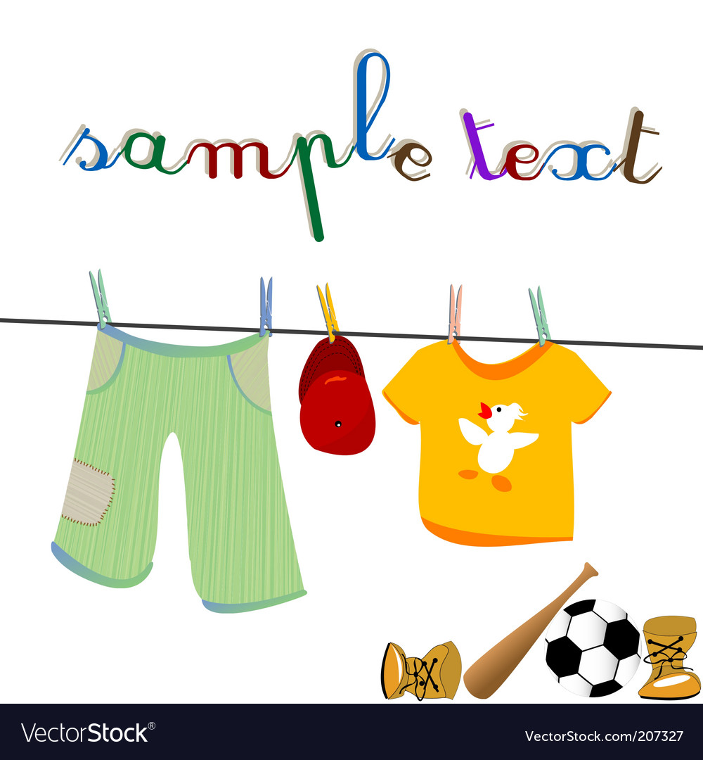 Clothes and toys vector