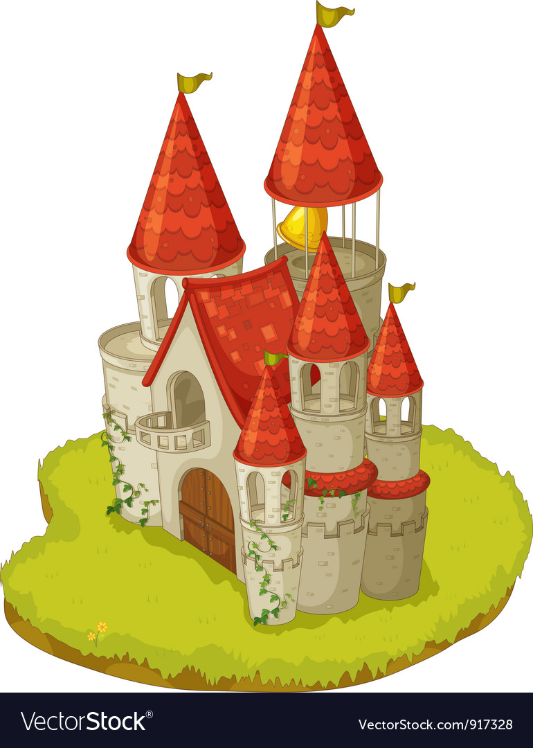Cartoon castle vector