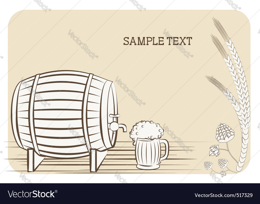 Beer keg vector