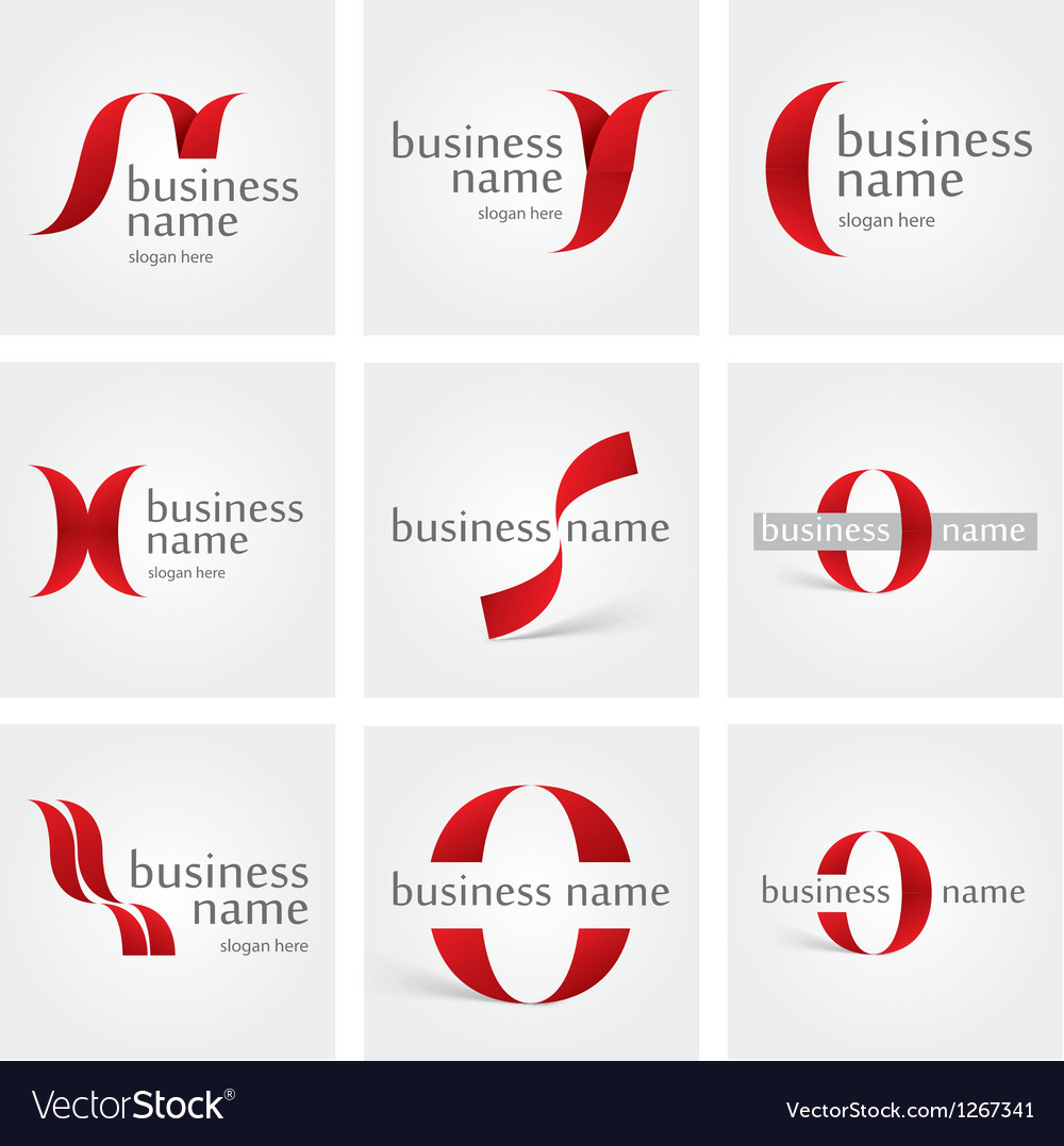 Logo ribbon vector