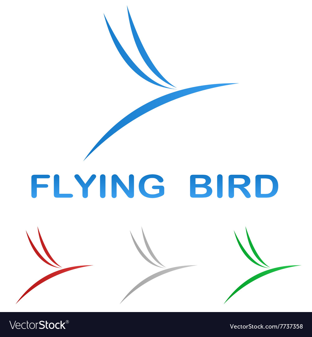 Stylized flying bird logo design