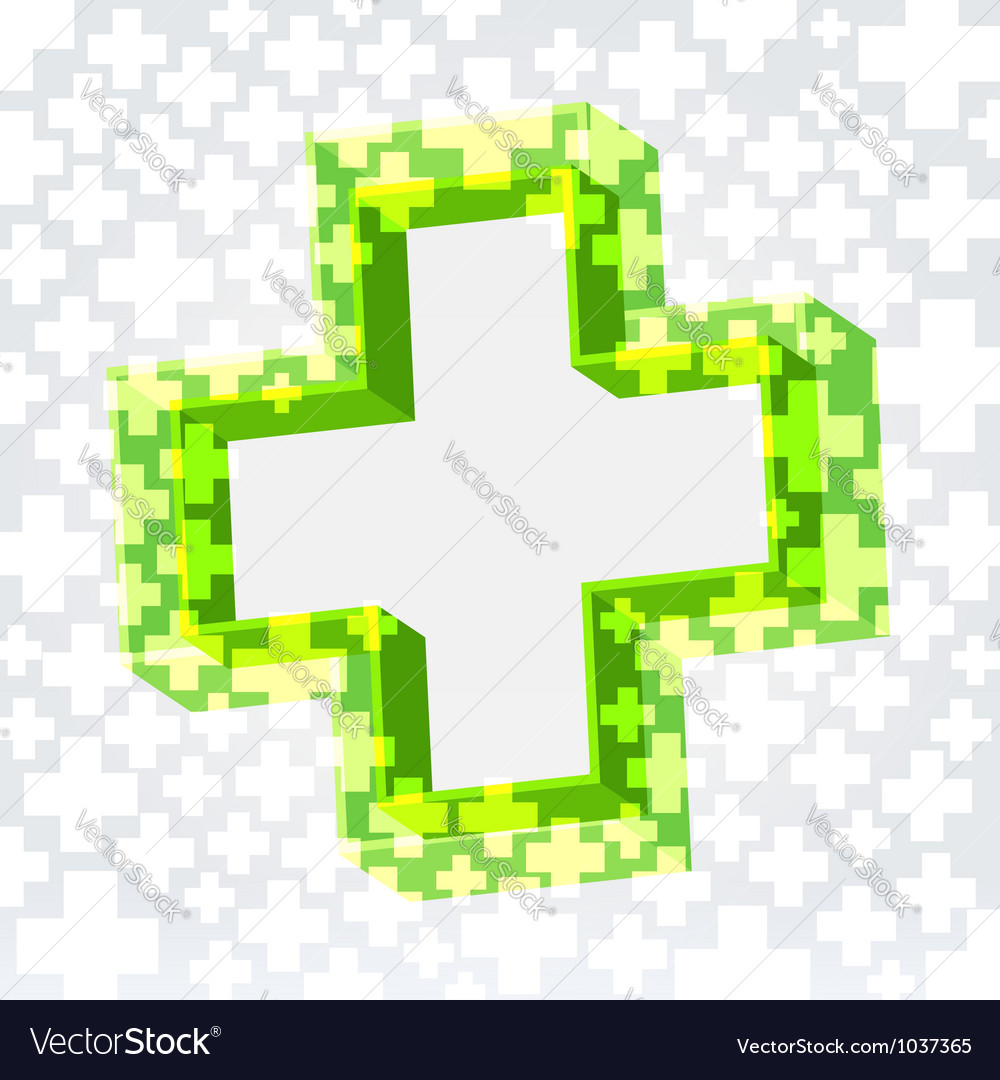 Green cross background vector