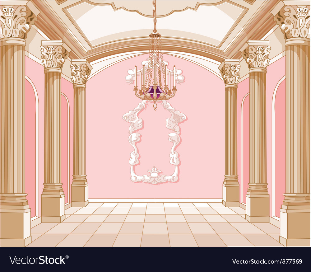 Ballroom of magic castle vector
