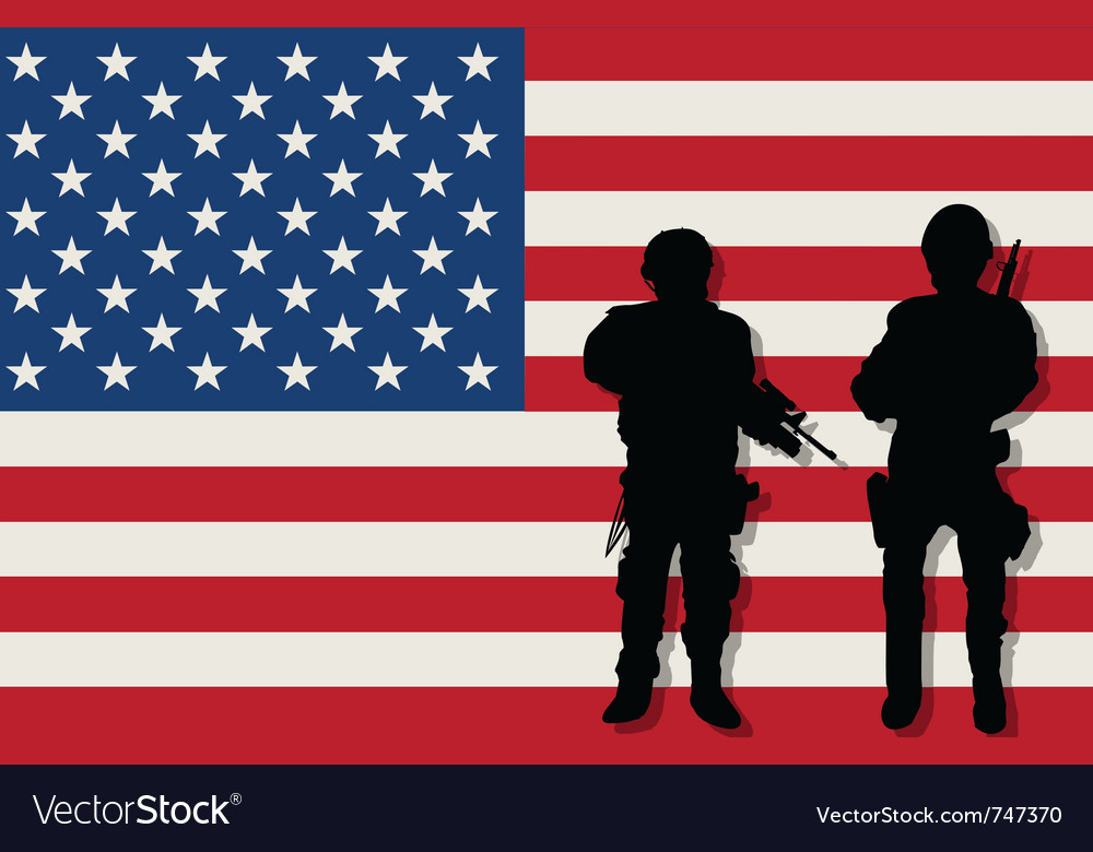 Armed soldiers vector