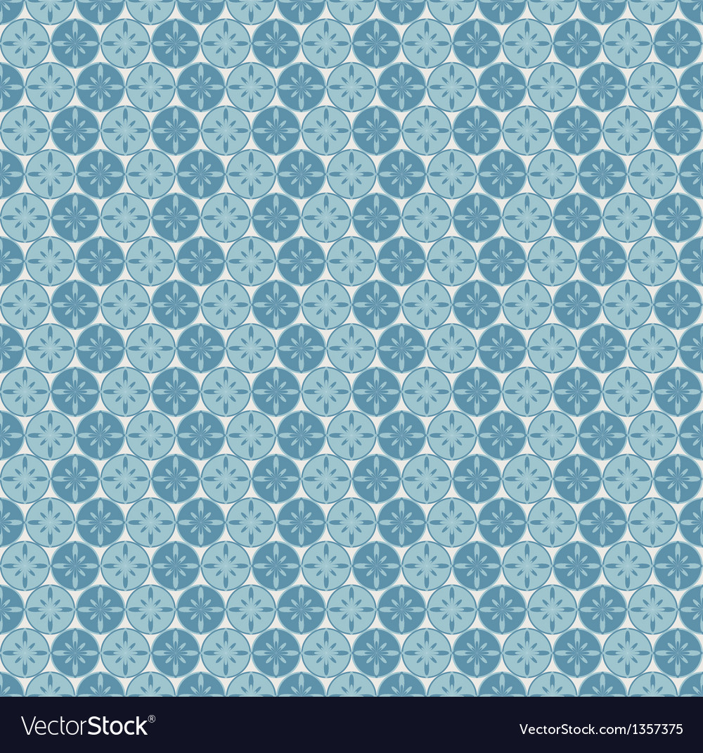 Seamless pattern with circles and abstract flowers vector