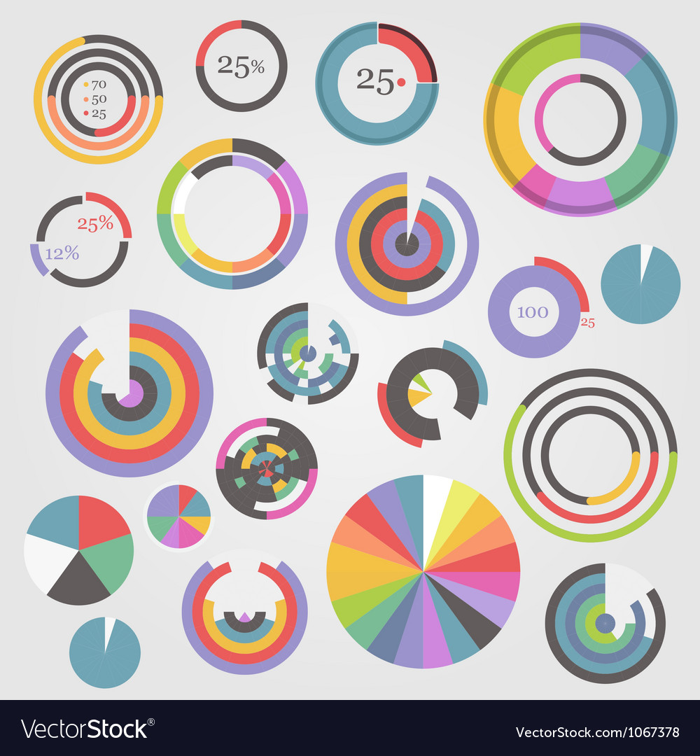 Color charts vector