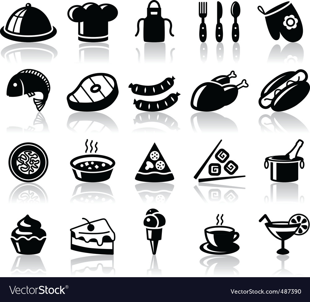 Kitchen and food vector
