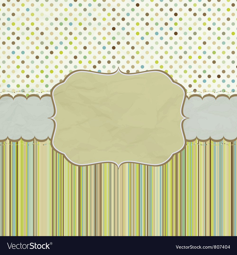 Vintage polka dots card vector