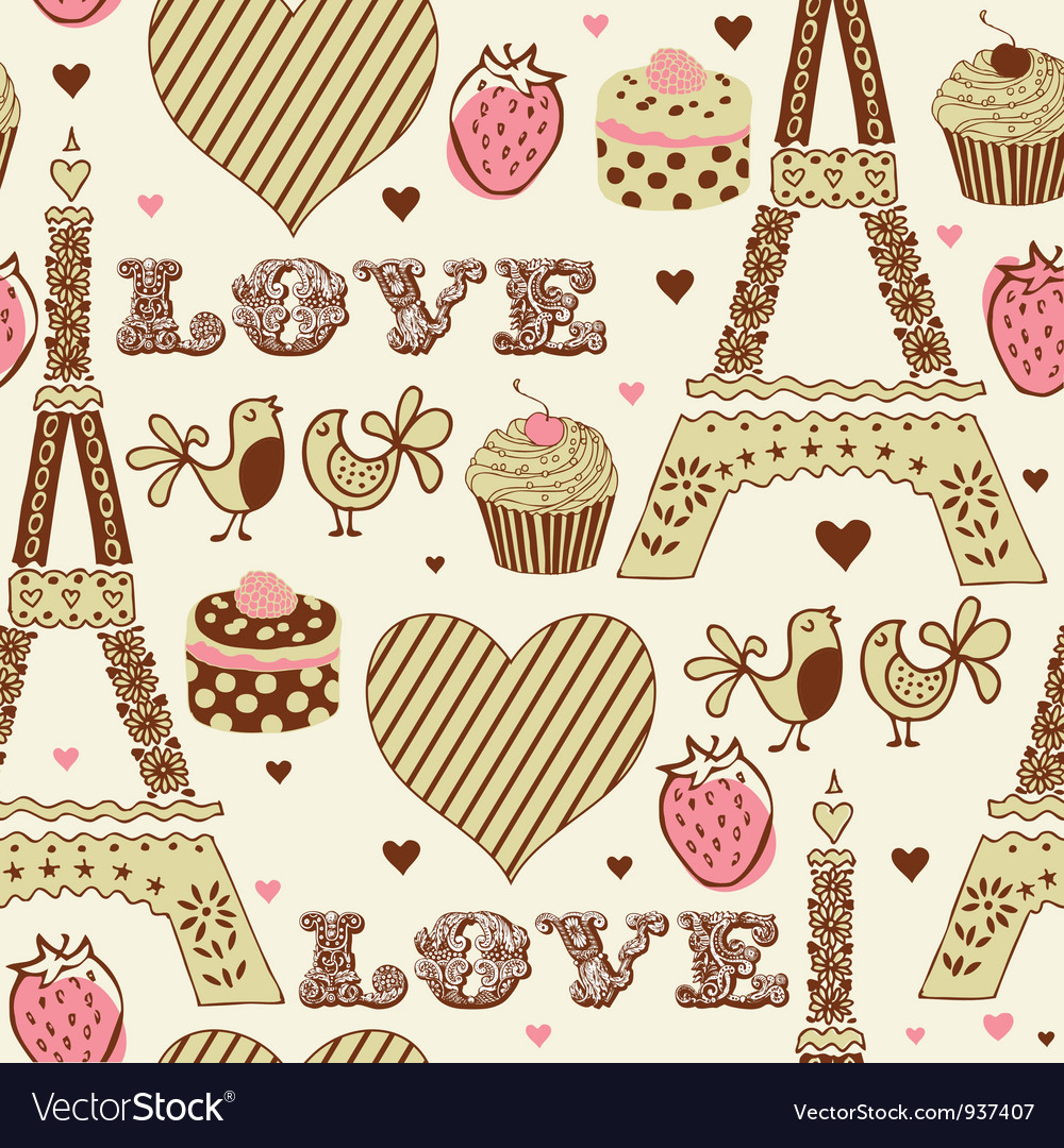 Vintage love paris pattern vector by zolssa - Image #937407 ...
