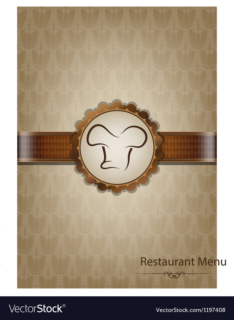Brown restaurant menu design vector