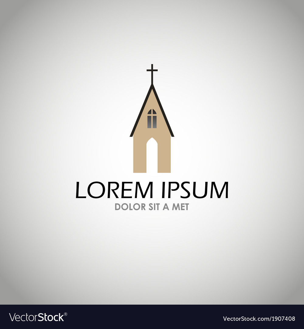 House church icon vector