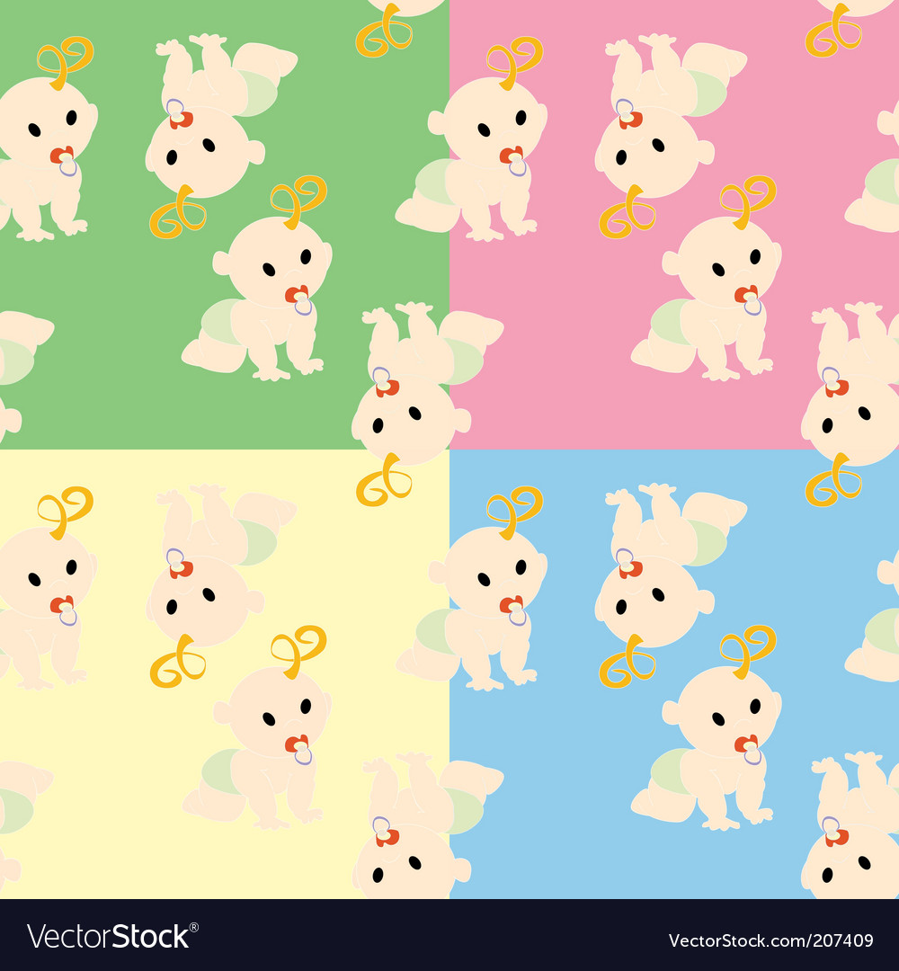 ... Patterns nursery wallpaper pattern vector by lirch - image #207409