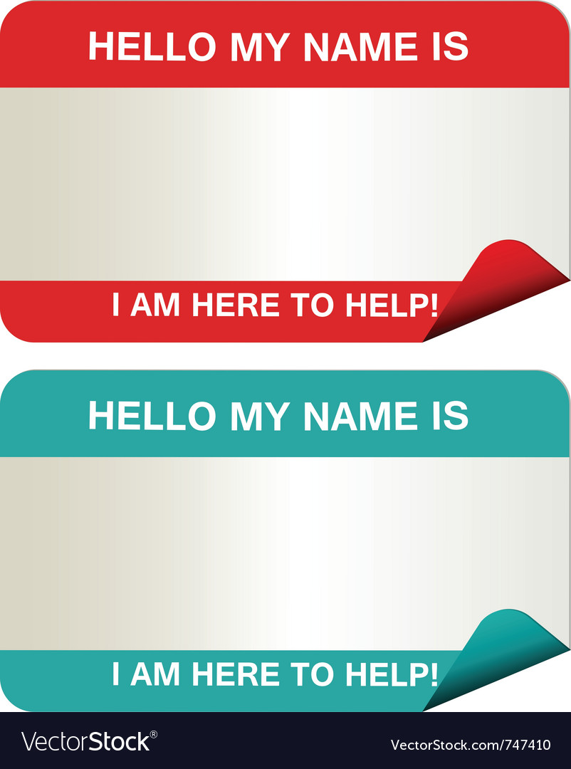 Name tags vector