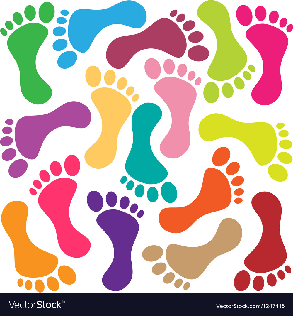 Footprint vector