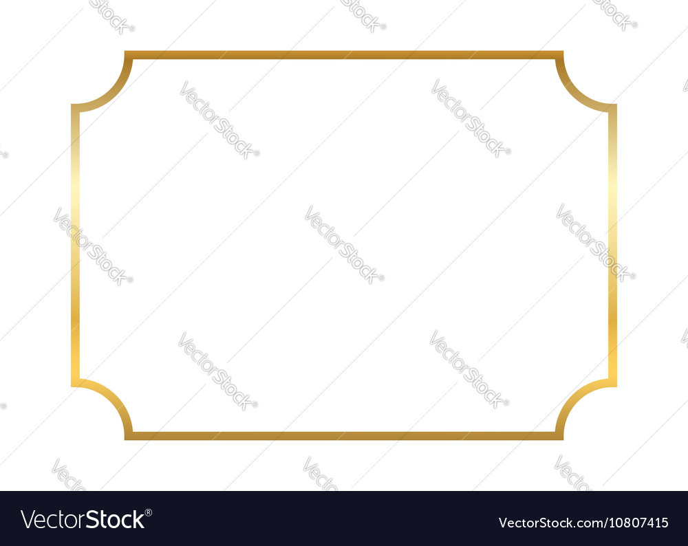 Gold Frame Beautiful Simple Vector By Alona_S
