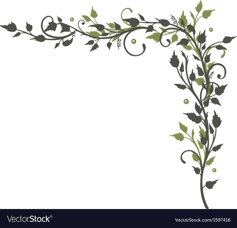 Leaves border tendril vector by christine-krahl - Image #1597416 ...
