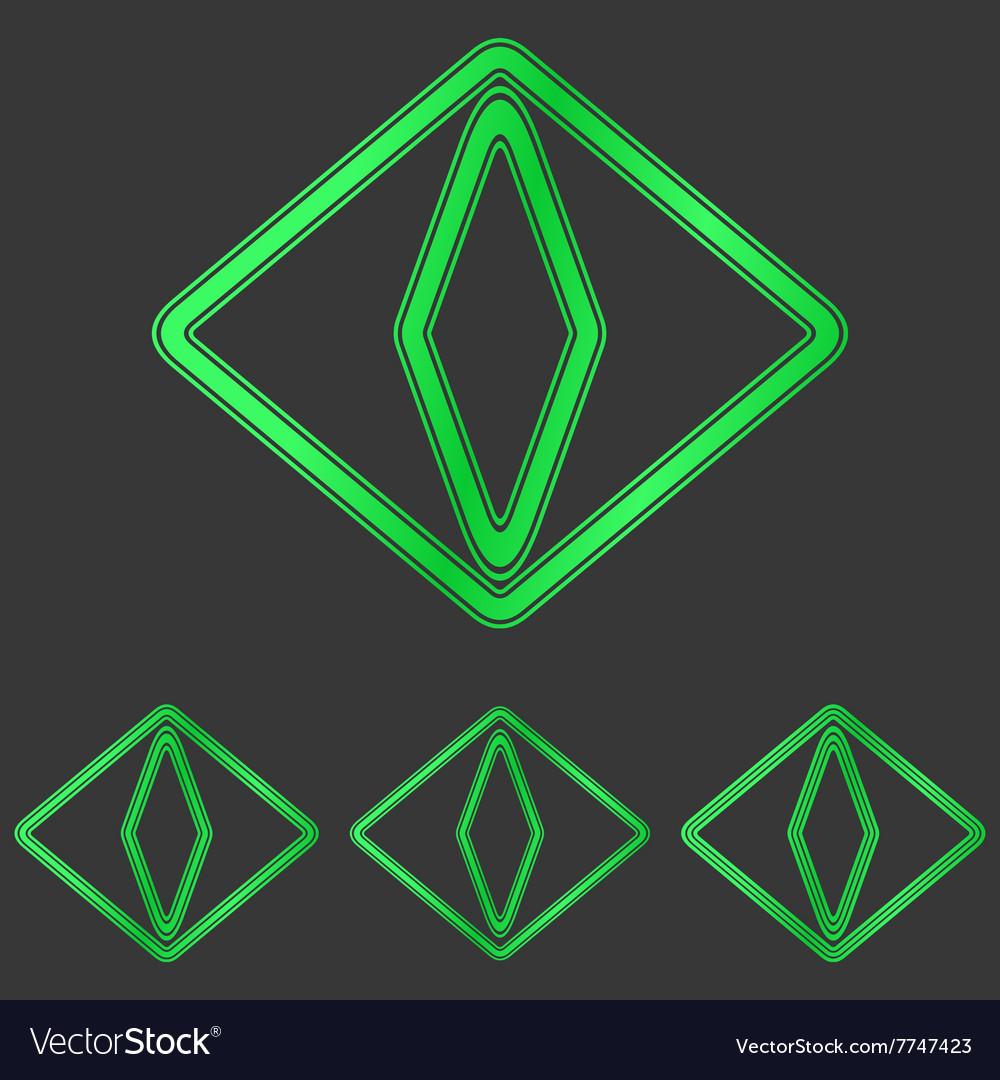 Green cat eye logo design set