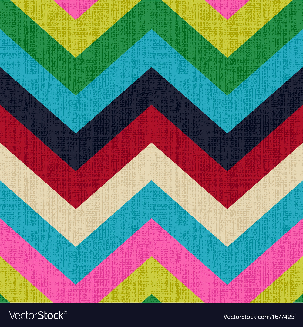 Seamless chevron retro pattern vector