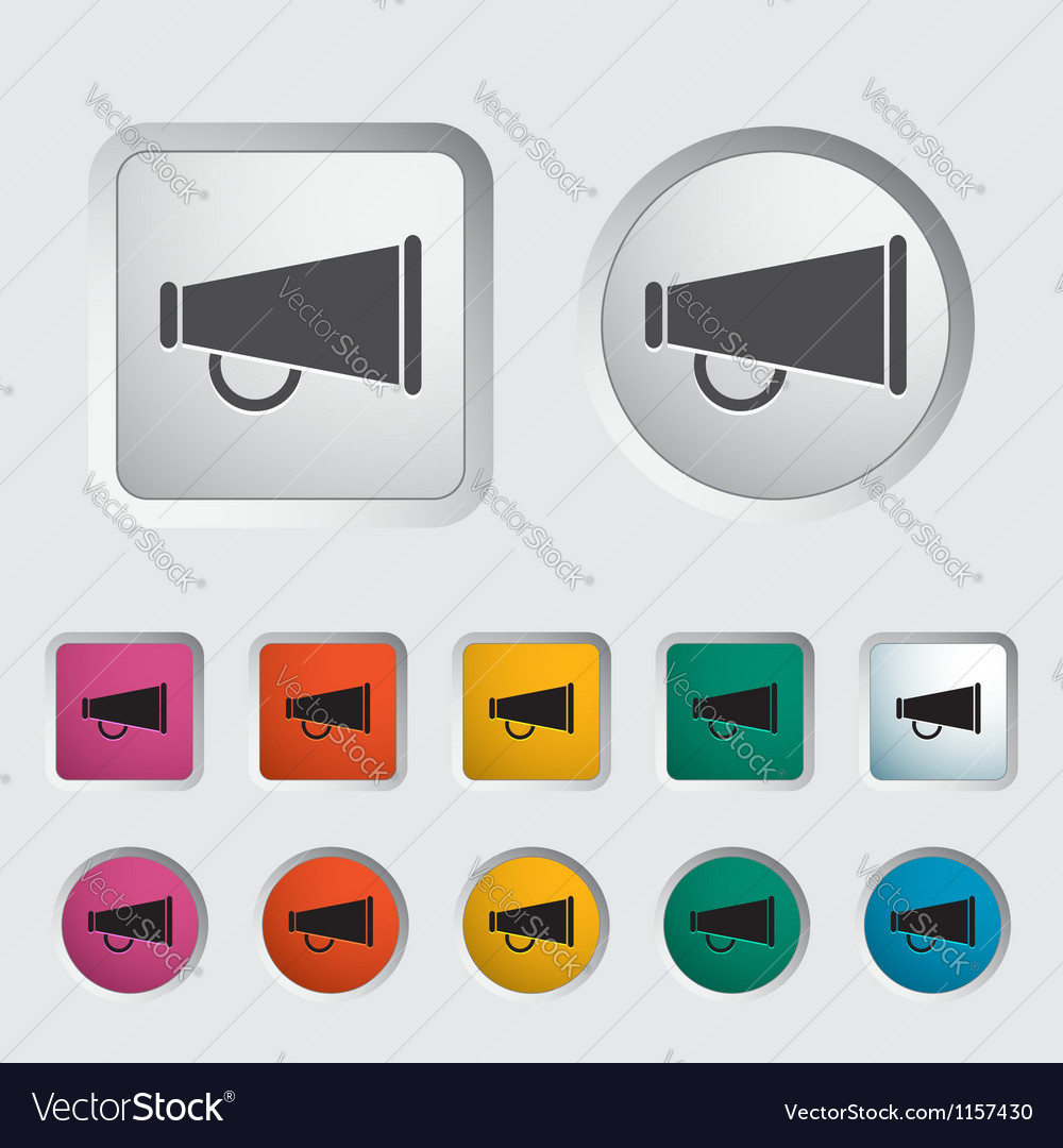Horn single icon vector