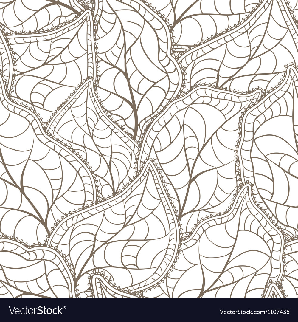 Leaves seamless pattern vector
