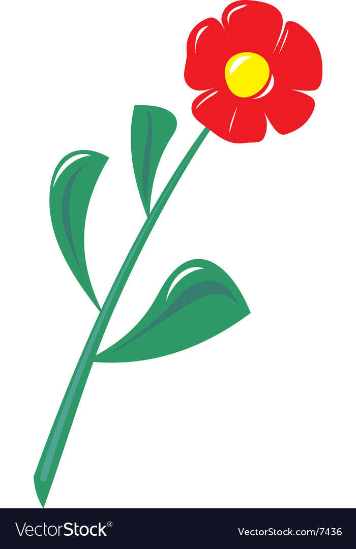Plastic flower vector