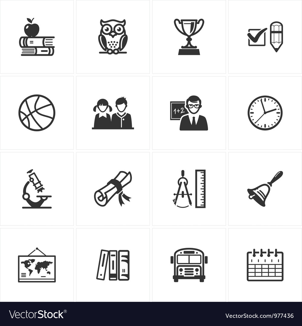School and education icons  set 3 vector