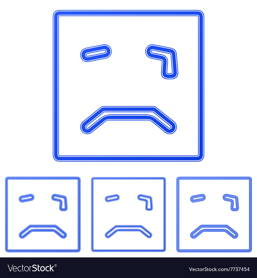 Blue cry icon logo design set