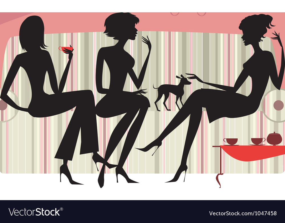 Talking women vector