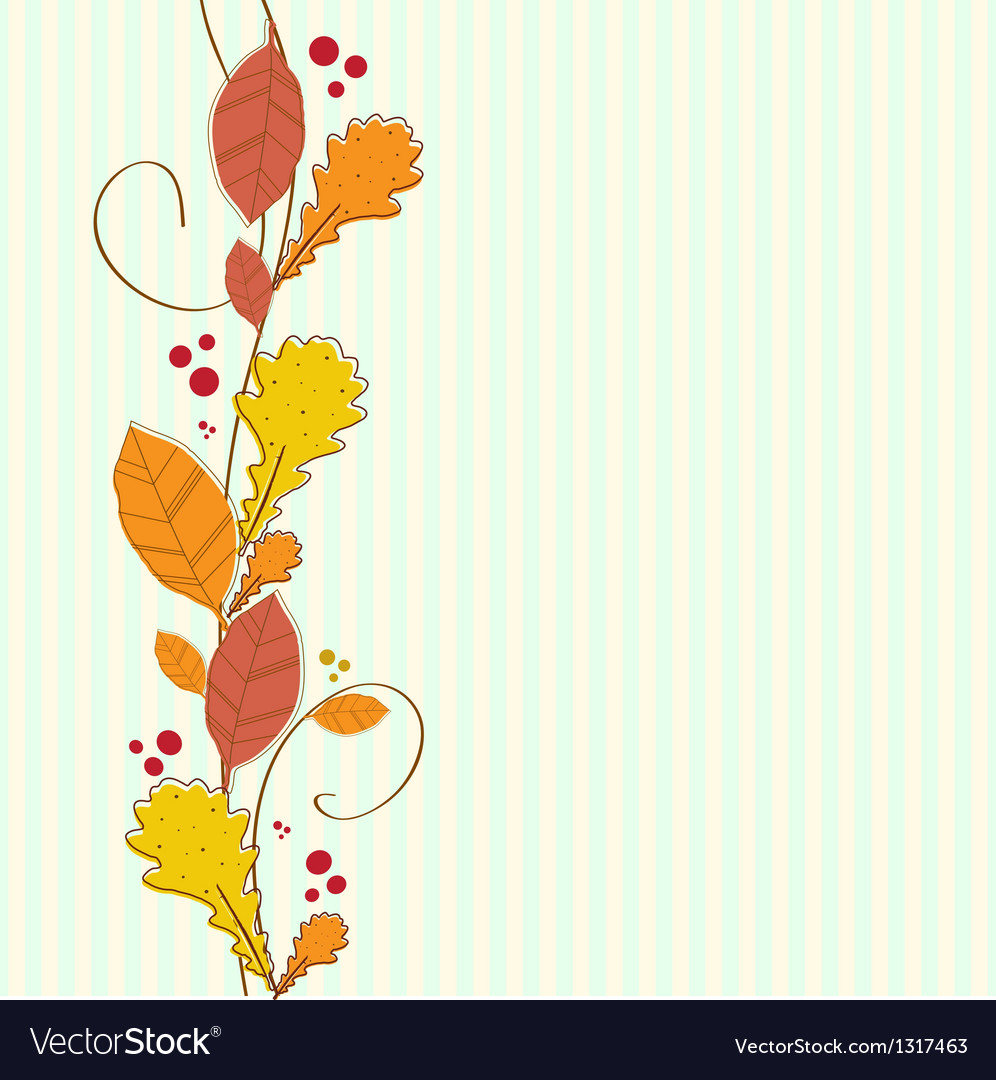 Vertical seamless border with autumn background vector by mcherevan ...