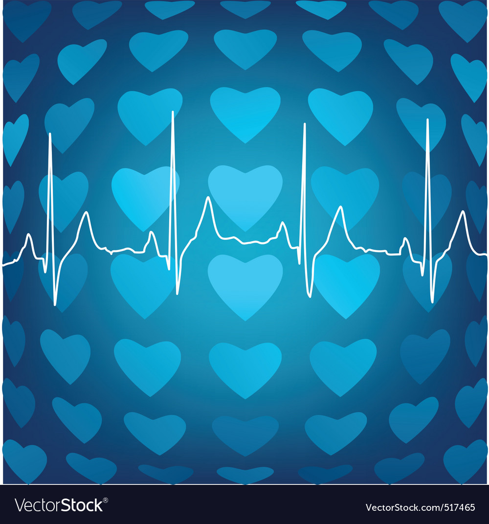 Heart beat background vector