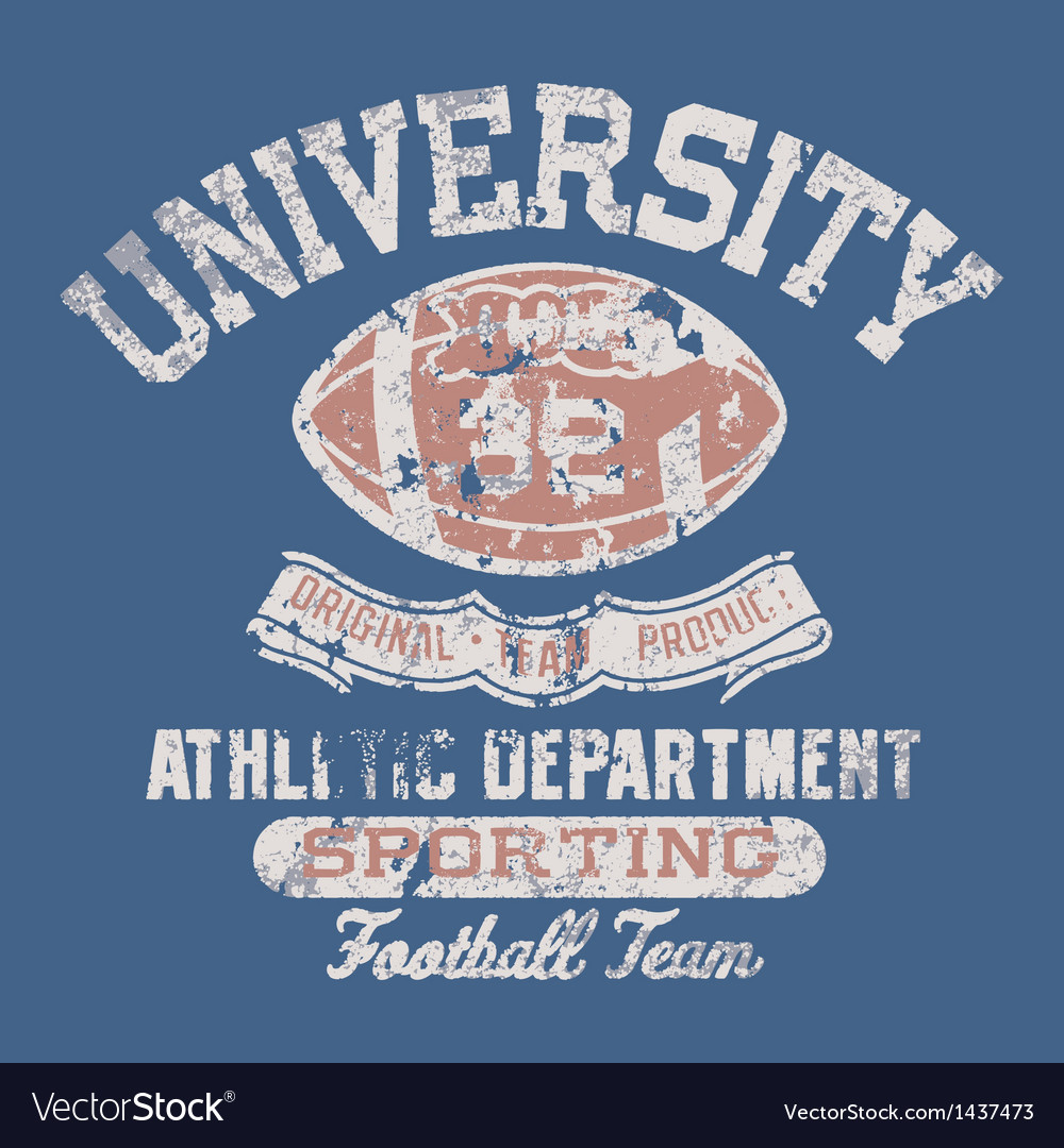 University football athletic department vector