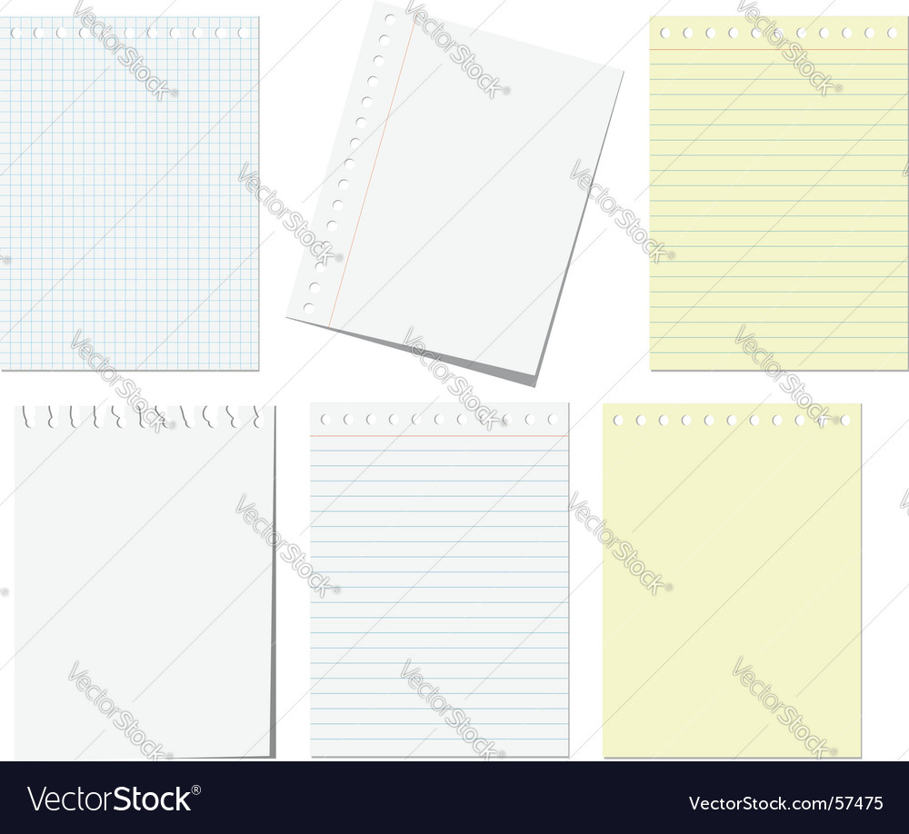 Notebook pages vector